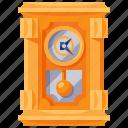 antique, clock, furniture, home, household, interior