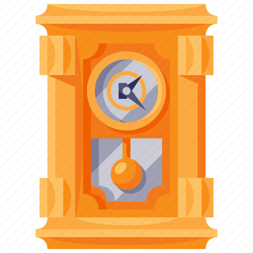antique, clock, furniture, home, household, interior icon