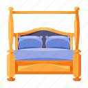 bed, canopy, furniture, home, household, interior, with icon