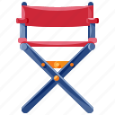 chair, director, furniture, home, household, interior icon
