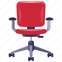 chair, furniture, home, household, interior, office icon