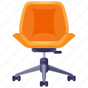 chair, furniture, home, household, interior, office, retro icon