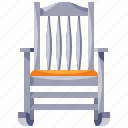 chair, furniture, home, household, interior, rocking icon