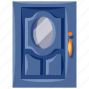 door, furniture, home, household, interior, single icon