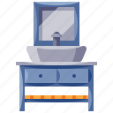 furniture, home, household, interior, washstand icon