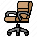 chair, furniture, office, working icon