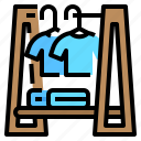 clothes, hang, rack, stand icon