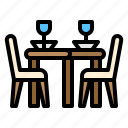chair, dining, food, restaurant, table icon