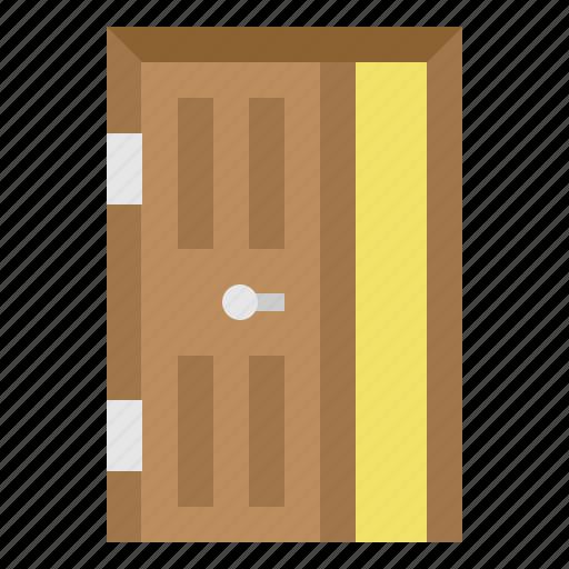door, furniture, household, wooden icon