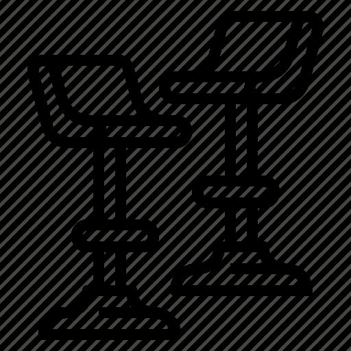 bar, decoration, furniture, stool icon