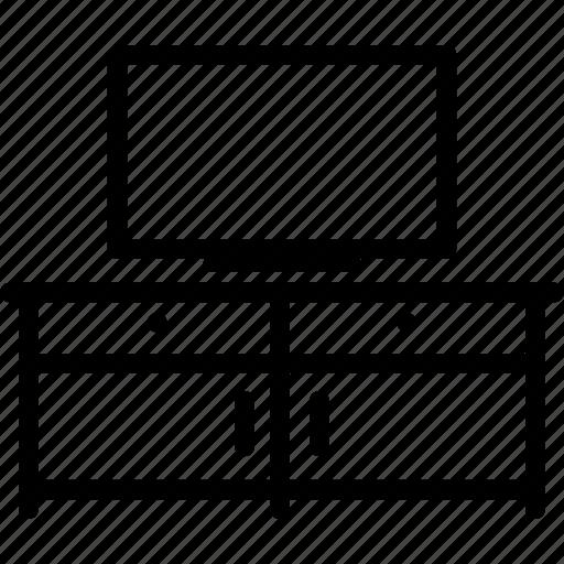 cupboard, furniture, rack, television, tv icon