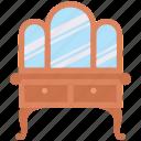 mirror, drawers, decor, interior, furniture, furnishing
