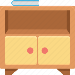 almirah, cabinet, cupboard, desk drawers, drawers icon