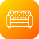 belongings, couch, furnishings, furniture, household, sofa icon