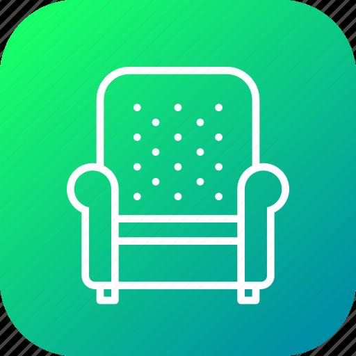 armchair, belongings, furnishings, furniture, households, sofa icon