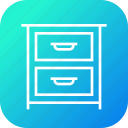 belongings, books, cloth, drawer, furnishing, furniture, imitation icon