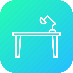 belongings, desk, furnishing, furniture, household, study, table icon