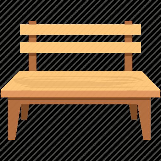 bench, garden bench, outdoor furniture, park bench, school bench icon