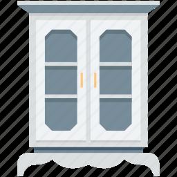almirah, bureau, cabinet, drawer, wall almirah icon