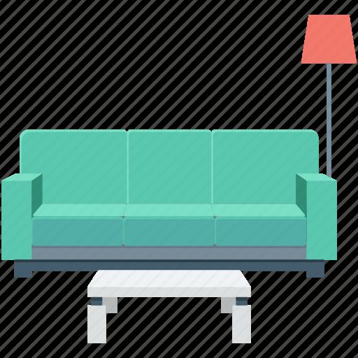 drawing room, furniture, settee, sitting, sofa icon