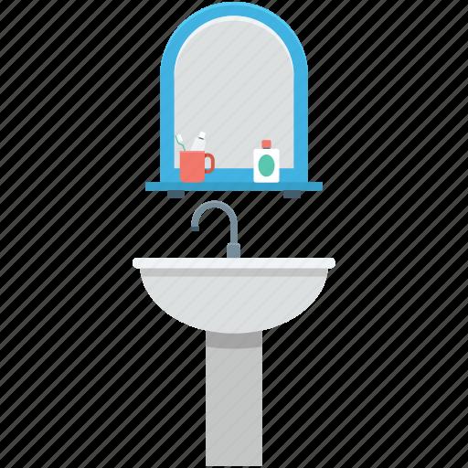 bathroom interior, faucet, sink, washbasin, washstand icon