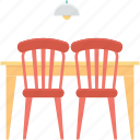 chair, dining table, furniture, restaurant table, table