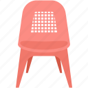chair, furniture, home interior, seat, seating icon