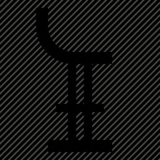 bar, bar stool, chair, high stool, stool icon