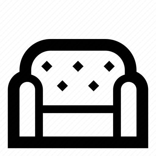 armchair, bed, belongings, couch, furniture, interior, sofa icon