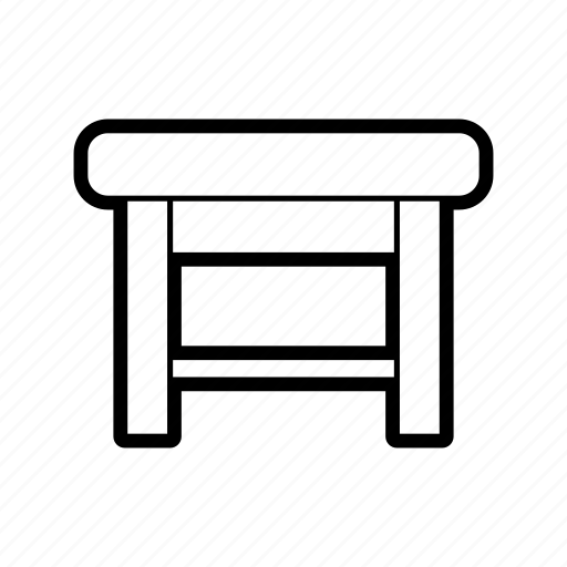 chair, furniture, home, households, interior, ottoman, seat icon