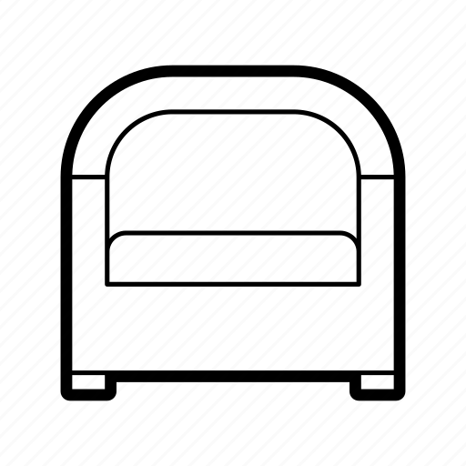 chair, furniture, home, households, interior, seat, sofa icon