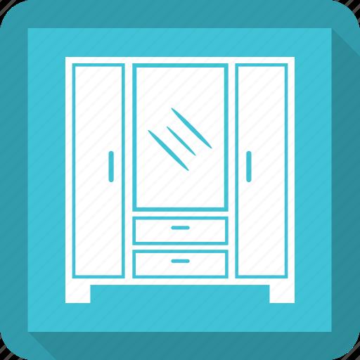 almirah, cabinet, cupboard, furniture, safe almirh icon
