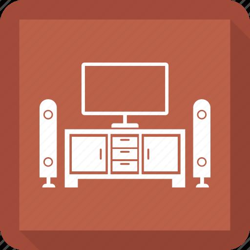 cabinet, cupboard, furniture, interior, tv icon