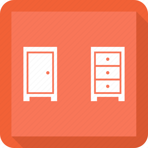 cupboard, drawer, furniture, table icon