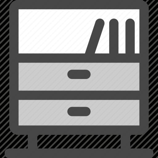 books, cabinet, drawers, furniture, shelve, sideboard, storage icon