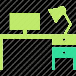 desk, office, work icon
