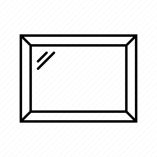 frame, glass, landscape, mirror, photo, window icon
