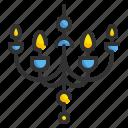 chandelier, decoration, furniture, household, illumination, interior, light icon