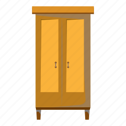 cartoon, closet, clothes, furniture, interior, room, wardrobe icon