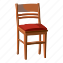 cartoon, chair, furniture, interior, modern, sit, wooden icon