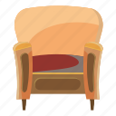 cartoon, chair, furniture, home, interior, trim, wood icon