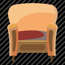 cartoon, chair, furniture, home, interior, trim, wood icon