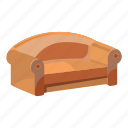 cartoon, furniture, home, living, room, sofa, soft icon