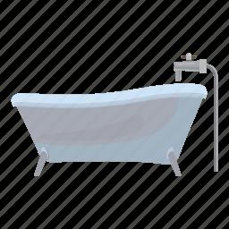 bath, bathroom, cartoon, clean, hygiene, legs, water icon
