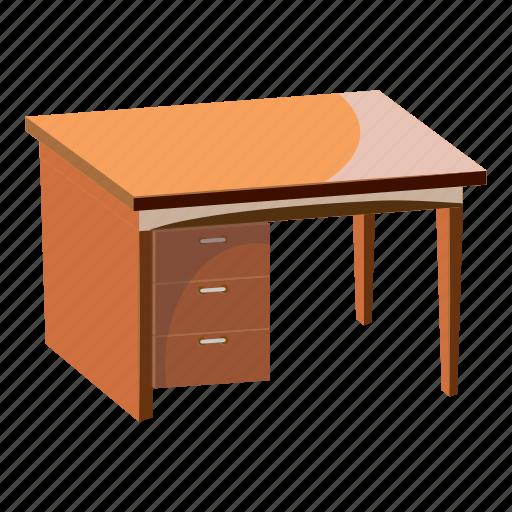 Cartoon Computer Decor Desk Furniture Leg Work Icon Download On Iconfinder
