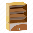 cabinet, cartoon, furniture, home, interior, shelves, wardrobe icon
