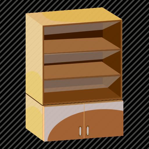 cabinet, cartoon, furniture, home, interior, shelves, wardrobe icon