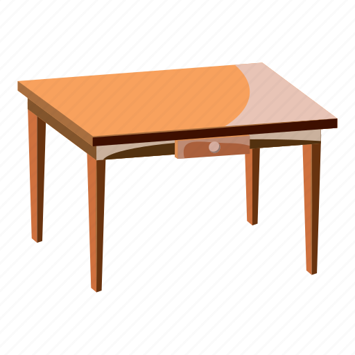 cartoon, decor, furniture, interior, leg, table, wooden icon