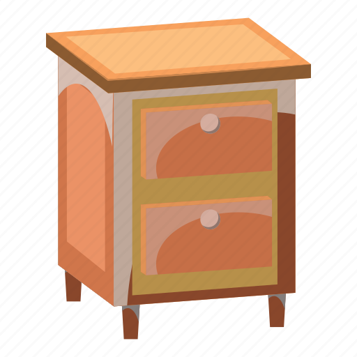 cabinet, cartoon, chest, drawers, furniture, home, interior icon