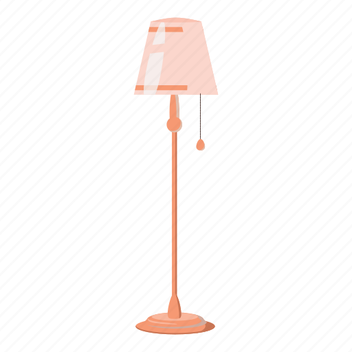 cartoon, floor, home, lamp, light, long, stalk icon
